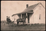 Pete and Anna Helland by her home in McLean County, N.D.