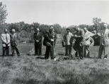 Herschel Lashkowitz at Fargo Dike groundbreaking