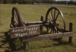 Army supply wagon at Fort Abercrombie, North Dakota