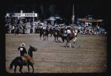 """Bareback Bronc Riding, Sanish Rodeo, Sanish, N.D."