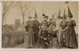 Eastern Star women in costumes for play, Cooperstown, N.D.