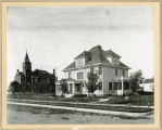 R. C. Cooper home and the Griggs County courthouse, Cooperstown, N.D.