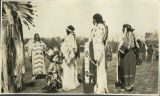Indian women at Ft. Berthold Reservation, North Dakota