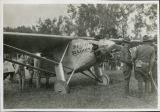 Charles Lindbergh with Spirit of St. Louis in Fargo, N.D.
