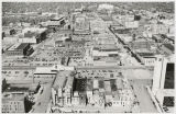 Aerial over downtown Fargo, N.D.