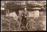 Rosa Kateley Olstad with her bicycle