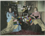 Harmony in the home, in more ways than one : Mrs. Ole I. Gjevre, Ole I. Gjevre, Mrs. Lars...