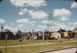 Ruins of Lustron home at 1238 9th Street N., Fargo, N.D. after tornado
