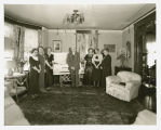Randine Stavens lying in state at farm home, Hatton, N.D.