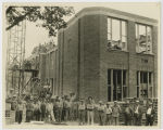 W. P. A. crew building Central School, Grafton, N.D.