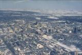 Aerial over downtown, Fargo, N.D.