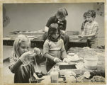 Children doing crafts at YMCA, Fargo, N.D.