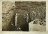 Men mining coal at Washburn Lignite Coal Co. mine
