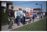 Anti-abortion protesters at the Fargo Women's Health Organization clinic
