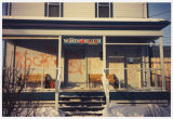 Graffiti on front of Fargo Women's Health Organization Clinic