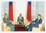 North Dakota Gov. George Sinner meeting with Lee Teng-hui, President of Taiwan, during trade mission