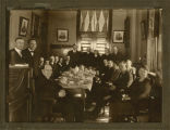 Gov. Frazier & famous Monday luncheon club of state officers & assistants in 1919