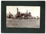Threshing crew at Olsness farm