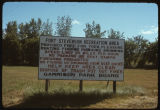 Sign at Fort Stevenson, North Dakota