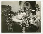 Man in open casket at Ivers Funeral Home, Fargo, N.D.