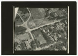Aerial view over 8th and 7th Street neighborhoods south Fargo, N.D.