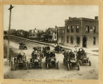 Auto scene at Cooperstown, North Dakota in October 1906