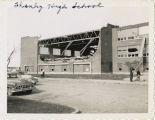 Shanley High School after 1957 tornado, Fargo, N.D.