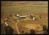 Aerial over Herbert Cushing farm, Section 34, Ellsworth Township, McKenzie County, N.D.