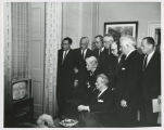 U.S. Senators watching news of John F. Kennedy assassination