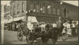 Decorated carriage in the 1897 Fire Festival Parade, Fargo, N.D.