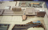 Model of Fargo Gateway Center, Main Avenue Urban Renewal project area
