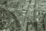 Aerial over lower Main Avenue, Fargo, N.D.