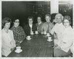 Women drinking coffee in Herbst Department Store cafeteria, Fargo, N.D.