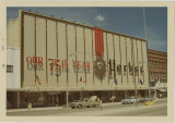 Herbst Department Store's 75th Anniversary sign, Fargo, N.D.
