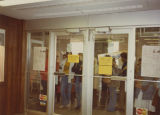People waiting for the doors to open, Going Out Of Business Sale, Herbst Department Store, Fargo,...