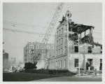 Fargo Mercantile Company building being demolished, Fago, N.D.