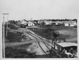 Looking east down the Northern Pacific Railroad tracks from Headquarters Hotel, Fargo, N.D.